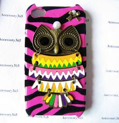 antique brass leopard skin hard case cover with by braceletcool, $13.99