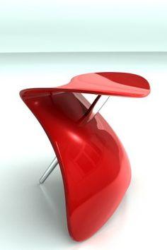SHINY RED STOOL (DESIGNED BY M. WESTHOLM & V. SERVIN). @designerwallace