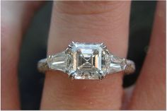 There are so many beautiful emerald cut and asscher diamonds on pricescope and I thought they should be all together in one place. Diamond Rings, Diamond Jewelry, Ring Earrings, Jewelry Box, Diy Jewelry, Ring Designs, Wedding Bands, Emerald, Bling