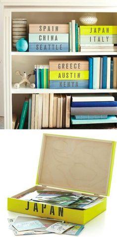 Pudełka na zdjęcia z ulubionych detynacji | www.shakeit.pl