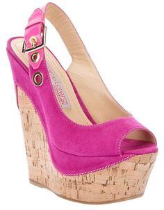 Gianmarco Lorenzi Pink Wedge Sandal
