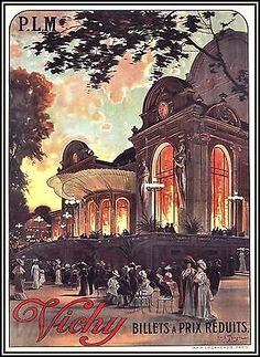 Vichy France Opera House Vintage Poster http://stores.ebay.com/Vintage-Poster-Prints-and-more