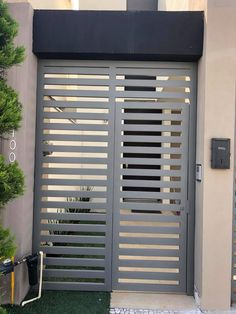 House Main Door Design, Front Gate Design, Window Grill Design, Door Gate Design, Barn Door Designs, Bungalow House Design, Minimal House Design, Front Door Entryway, Modern Fence Design