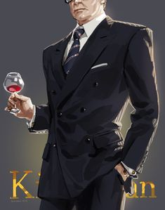 Kingsman: The Secret Service. Galahad. Harry Hart by JaneMere (http://www.pixiv.net/member_illust.php?mode=medium&illust_id=48894631)