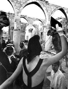 Dorothea in dress by John Cavanagh, photo by William Klein, Baalbek, Lebanon, 1961