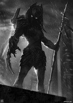 Female predator ——City Hunter, mist XG on ArtStation at https://www.artstation.com/artwork/deAke