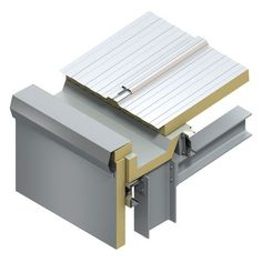 Membrane Lined Insulated Gutters - Fabrications, Safety & Lighting Solutions - Kingspan Insulated Panels UK & Ire Roof Cladding, Larch Cladding, Steel Frame House, Steel House, Roof Structure, Steel Structure, Roof Architecture, Architecture Details, Flat Roof Design