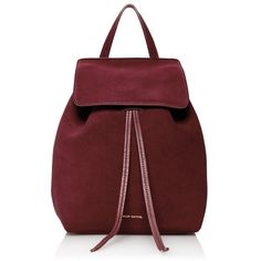 Mansur Gavriel Mini backpack (4,390 CNY) ❤ liked on Polyvore featuring bags, backpacks, red mini bag, suede bag, red bag, miniature backpack and knapsack bags