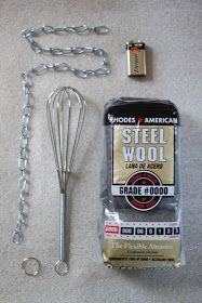 Supplies for Spinning Steel Wool Photography