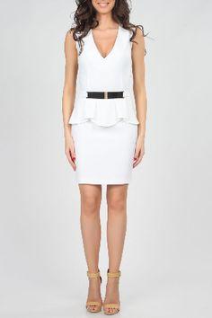 Poesse Teresa Bodycon Dress in White