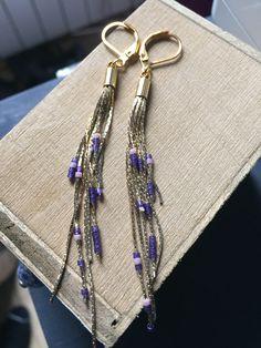 Les pendantes bleues et or par GaelleAtelier sur Etsy https://www.etsy.com/fr/listing/555789621/les-pendantes-bleues-et-or