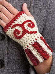 Free Crochet Pattern Download -- These Crochet Fingerless Gloves, designed by KNC Design Team, are featured in episode 12, season 5 of Knit and Crochet Now! TV. Learn more here: https://www.anniescatalog.com/knitandcrochetnow/patterns/detail.html?pattern_id=1&series=2