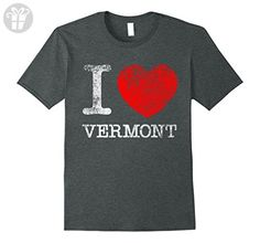 Mens I Love Heart Vermont Funny T-Shirt Large Dark Heather - Funny shirts (*Amazon Partner-Link)