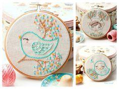 Dainty Bird Embroidery