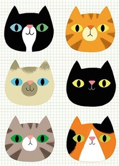 Cats Cat Icon, Cute Coloring Pages, Bottle Cap Crafts, Cat Doll, Cat Party, Cat Crafts, Cat Stickers, Cat Drawing, Art Plastique