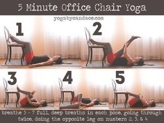 5 Minute Office Chair Yoga.  See more by checking out the image