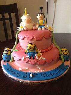 Dispicable  me minion cake girls