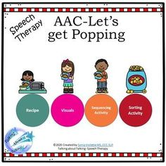 AAC Cooking- Let's get Popping -Speech Therapy | TpT