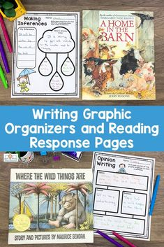 Reading and Writing Graphic Organizers LOWER Elementary Narrative Writing, Informational Writing, Opinion Writing, 2nd Grade Classroom, Kindergarten Classroom, Writing Practice, Writing Skills, Writing Graphic Organizers, Making Inferences