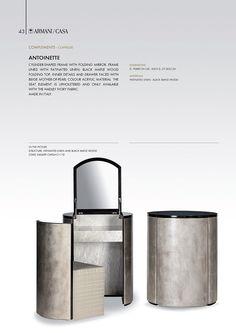 Comlpements | Armani/Casa - hidden dressing table