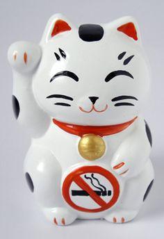 まね禁煙ねこ貯金箱