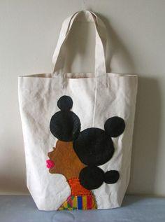 Natural Hair Beauty Tote Bag. $36.00, via Etsy. ♥_♥ #naturalhair #tote #fashion #etsy