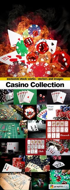 Casino Collection 50xUHQ JPEG  stock images