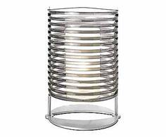 Lampada da tavolo in acciaio e acrilico Trend, 25x40 cm