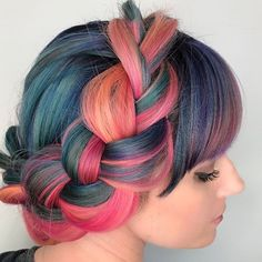 Love this color and Crown Braid combo and this side shot of my beautiful friend @epayne2424