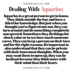 how to deal with an aquarius man