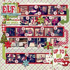 Christmas Themed Scrapbook Layouts | 12X12 Layouts | Scrapbooking Ideas | Creative Scrapbooker Magazine #christmas #scrapbooking #12X12layouts