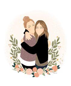 Friends Illustration, Illustration Art, Illustrations, Cool Art Drawings, Digital Portrait, Grafik Design, Anime Art Girl, Aesthetic Art, Cartoon Art