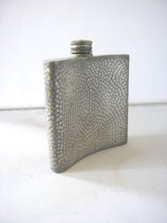 Vintage Hammered Pewter hip flask British design made in England Brewiana Whiskey Brandy Vodka Gin Liqour Liquer from 1980s by IrishBarnVintage on Etsy