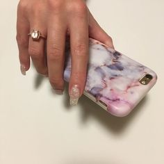 """Gorgeous protective pastel marble iPhone and Samsung phone case with scratch resistant matte finish. The perfect smartphone mobile device fashion accessory and gift idea for girls, women and teens. Get yours at CASES A LA MODE! #phone #accessories #iphonecase #iphone7plus #gifts #giftideas #marble #mobile #smartphone #samsung #pastel #fashiongoals """"Amazing"""" (from 1,973 five star customer reviews)"""