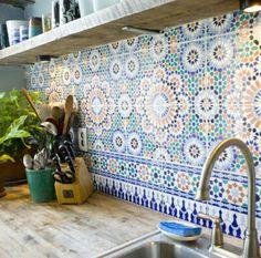 Kitchen moroccan tiles