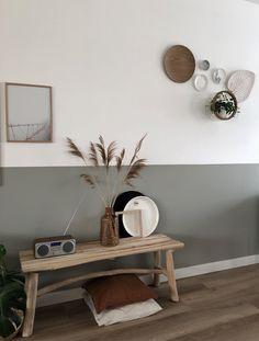 Living room - Look inside at home near me - look inside at home - Home Office Decor, Entryway Decor, Bedroom Decor, Rustic Entryway, Hallway Inspiration, Home Decor Inspiration, Decor Ideas, Half Painted Walls, Half Walls