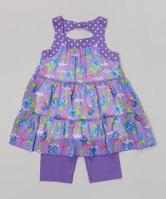 Another great find on #zulily! Dark Purple Flamingo Jessica Top & Shorts - Toddler & Girls by Pogo Club #zulilyfinds