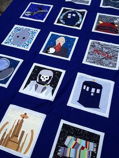 doctor who along. quilt top done by Trilliumdesign ~ Caroline, via Flickr