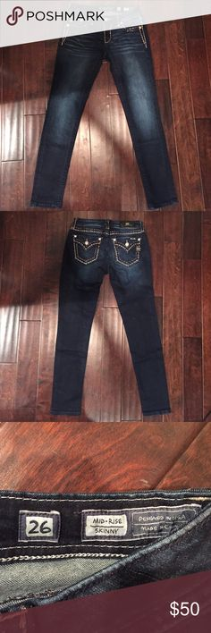 MissMe Skinny Jeans Bought for a country themed dance at my school and only worn once on that night. Practically new. Never put in dryer. Miss Me Jeans Skinny