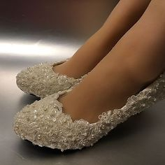 Details about Lace white ivory crystal Wedding shoes Bridal flats low high heel pump size High Heel Pumps, Lace High Heels, Lace Pumps, Low Heel Shoes, Pearl And Lace, Ivory Pearl, Ivory White, Bridal Flats, Bridal Accessories