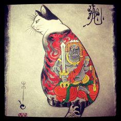 Yakuza Kitties by Horitomo Japanese Illustration, Illustration Art, Illustrations, Asian Cat, Street Art Photography, Japanese Cat, Japanese Artwork, Japan Art, Cat Tattoo