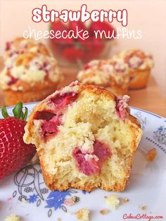 These Strawberry Cheesecake muffins are a delicious way to welcome Spring.