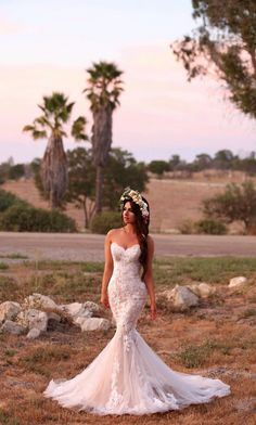 Wedding - Katerina Blue by Enzoani lace wedding dress available at The Bridal Studio in Salt Lake City, Utah A fulllength mermaid gown with a romantic scalloped sweetheart neckline, the Katerina gown is sure Outdoor Wedding Dress, Dream Wedding Dresses, Bridal Dresses, Wedding Gowns, Prom Dresses, Lace Wedding, Wedding Rings, Sunset Wedding, Wedding Reception