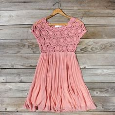 Pala de crochê rosa