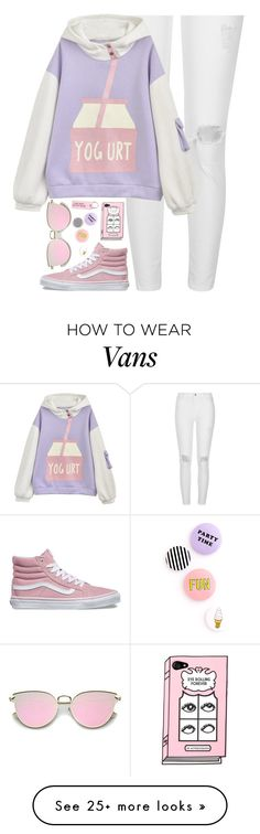 """#113"" by kaitofficial on Polyvore featuring River Island, Vans and Various Projects"