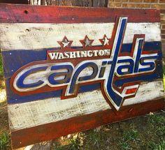 Washington Capitals Logo wall hanging by SportsWallArt on Etsy https://www.etsy.com/listing/270386416/washington-capitals-logo-hockey-sport #hockey