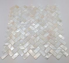 Mother-of-Pearl-Herringbone-Backsplash-Mosaic-White-contemporary-mosaic-tile - Google Search