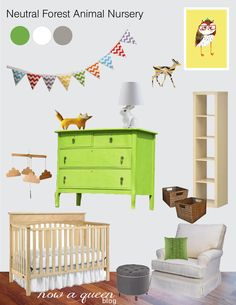 Neutral Forest Animal Nursery..too neutral for me, but I like parts of it