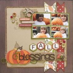 17turtles: Fall Blessings layout by Carolyn Wolff using Juliana Michaels'…