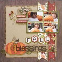 17turtles: Fall Blessings layout by Carolyn Wolff using Juliana Michaels' Digital Cut Files.